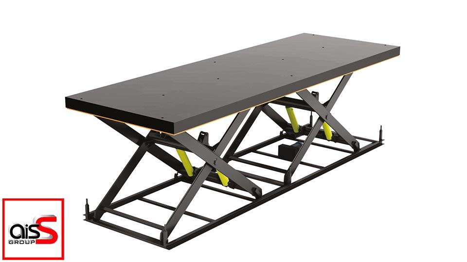 На фото Ножничные подъемные столы