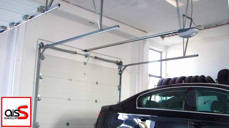 Ремонт потолочного привода секционных ворот