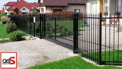 Купить кованные откатные ворота в Запорожье
